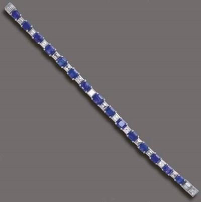 A SAPPHIRE AND DIAMOND LINE BR