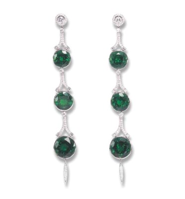 A MAGNIFICENT PAIR OF EMERALD