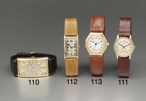 Rolex. A rare 18K gold hinged