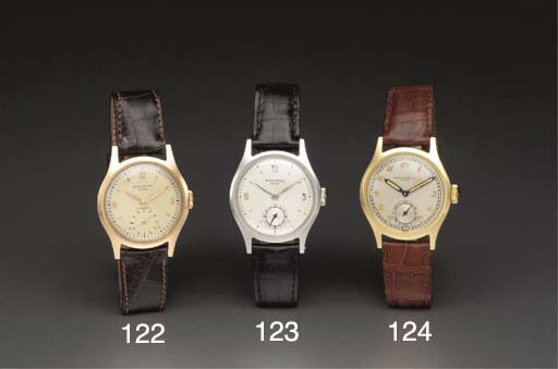 Patek Philippe. A fine and rare stainless steel water-resistant wristwatch with two-tone dial