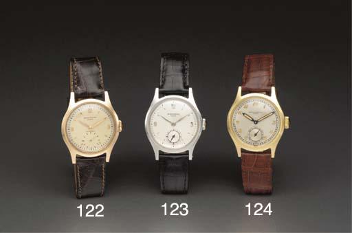 Patek Philippe. A fine 18K gold water-resistant wristwatch with Breguet numerals