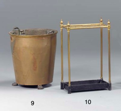A VICTORIAN BRASS AND IRON UMB