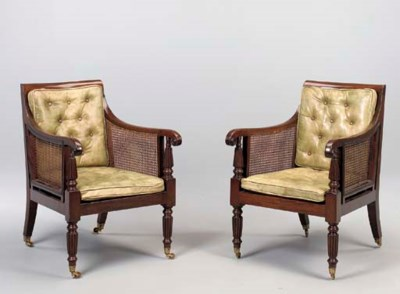 A PAIR OF LATE REGENCY MAHOGAN