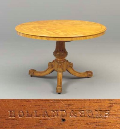 A MID-VICTORIAN ROSEWOOD-BANDE