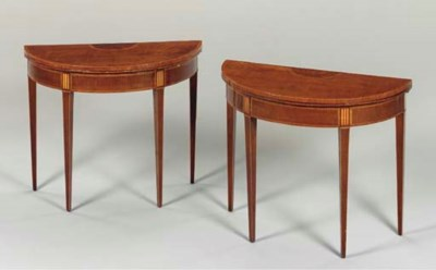 A PAIR OF GEORGE III INLAID SY