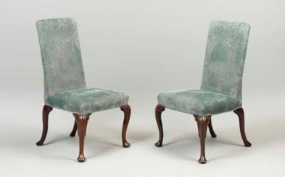A PAIR OF GEORGE II WALNUT SID