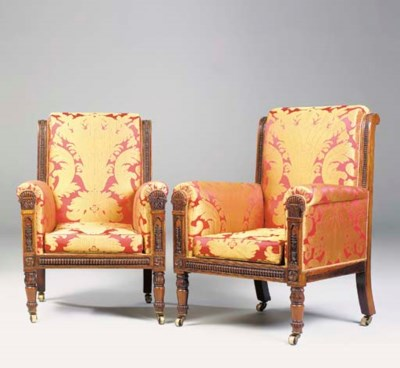 A PAIR OF GEORGE IV ROSEWOOD B