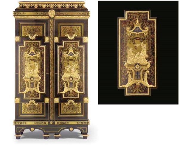A LOUIS XIV ORMOLU-MOUNTED EBO