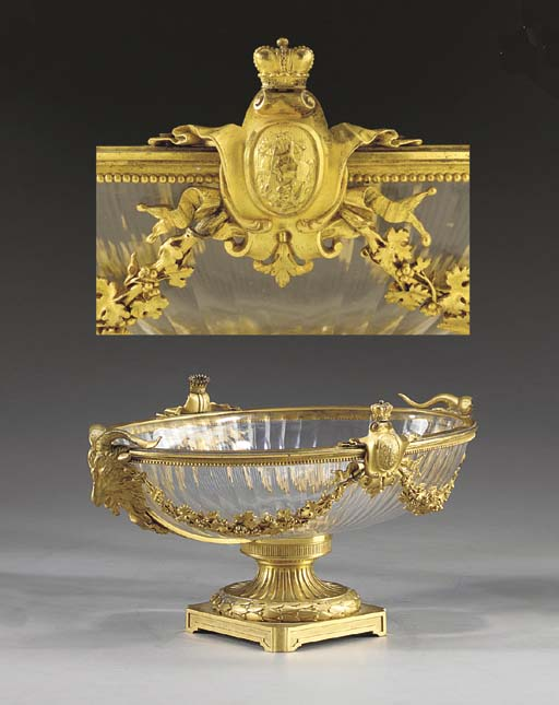 A Louis XVI style ormolu and c
