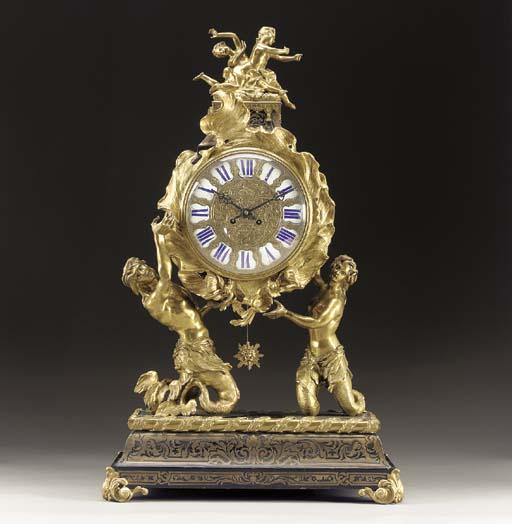 A Louis XV style ormolu, brass