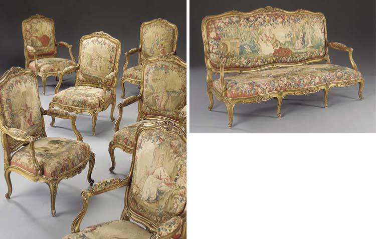 A Napoleon III giltwood and Be