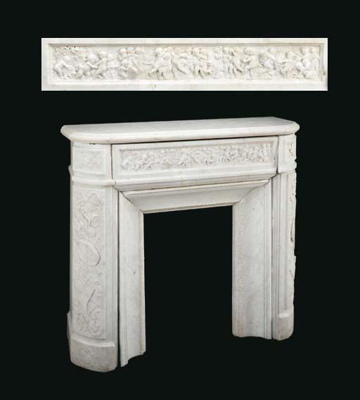 An Italian carved Carrara marb