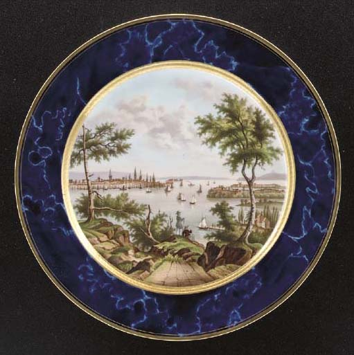 A SÈVRES LATER-DECORATED FAUX-