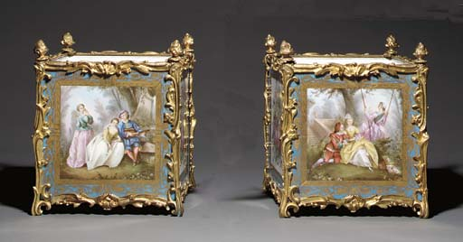 A PAIR OF ORMOLU-MOUNTED SÈVRE