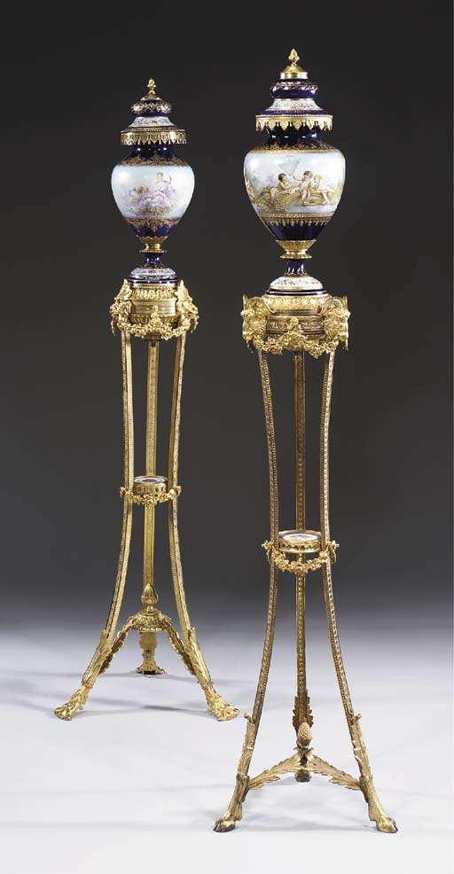 TWO ORMOLU-MOUNTED SÈVRES STYL