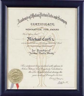 MICHAEL CURTIZ ACADEMY AWARD N