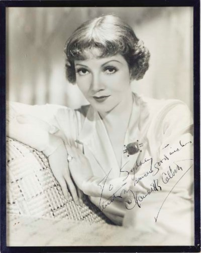 CLAUDETTE COLBERT SIGNED PHOTO