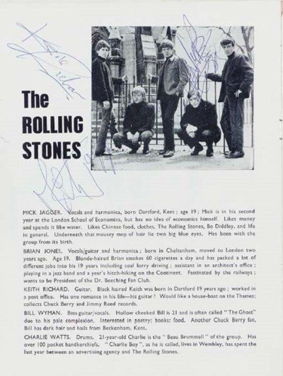ROLLING STONES SIGNED PROGRAM