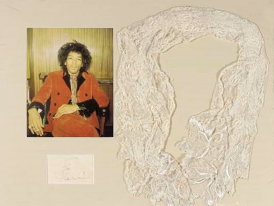 JIMI HENDRIX SCARF AND SIGNATU