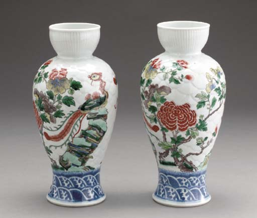 A PAIR OF ENAMELED AND UNDERGL