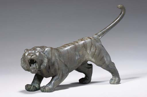 A Bronze Model Of A Tiger