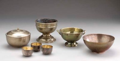 A GROUP OF BRASS, COPPER, AND