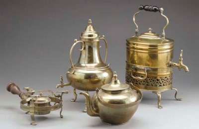 A GROUP OF BRASS WARMERS AND S