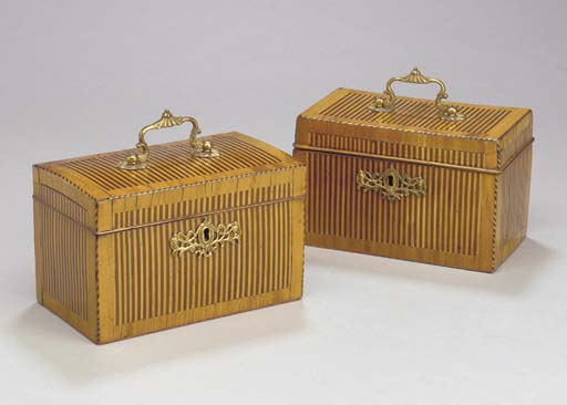 A PAIR OF DUTCH SATINWOOD AND