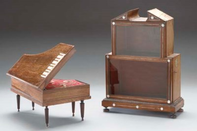 A CONTINENTAL ROSEWOOD AND IVO