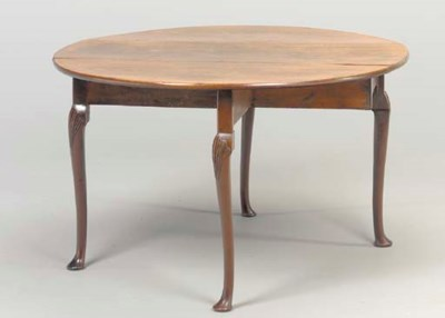 A GEORGE II MAHOGANY DROP-LEAF