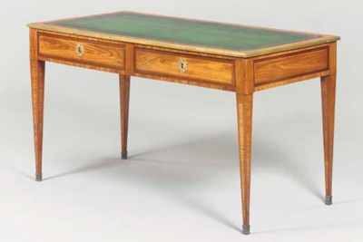 A LATE LOUIS XVI TULIPWOOD AND