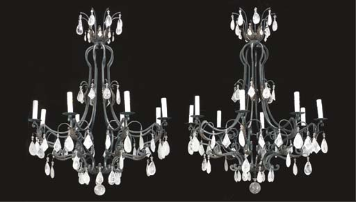 A PAIR OF WROUGHT IRON, ROCK C