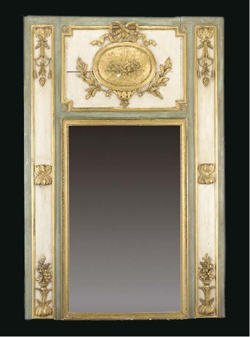 A LOUIS XVI STYLE GREEN AND CR