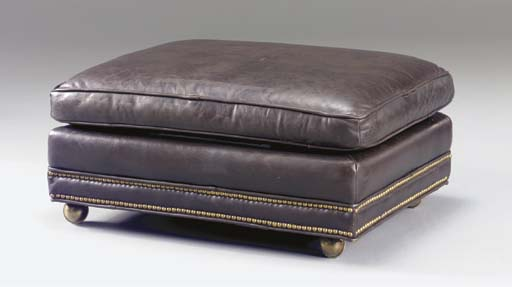 A BROWN CLOSE-NAILED LEATHER O
