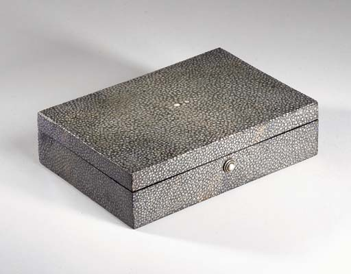 A GALUCHAT COVERED BOX