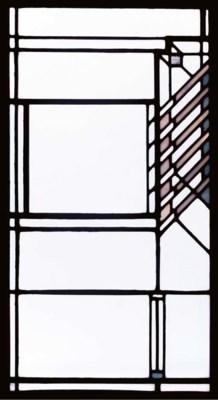 A LEADED GLASS WINDOW