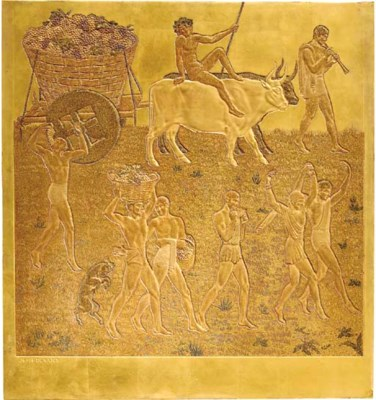 'GRAPE HARVESTING', A GOLD LAC