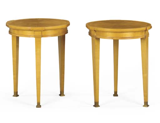A PAIR OF SYCAMORE OCCASIONAL