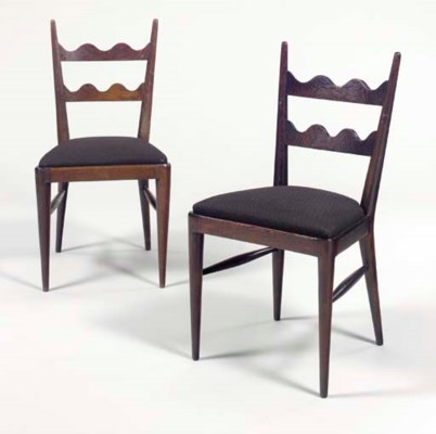 A PAIR OF STAINED OAK 'SCOTCH