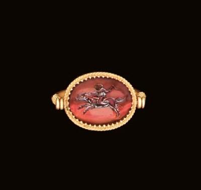 A ROMAN GARNET RING STONE