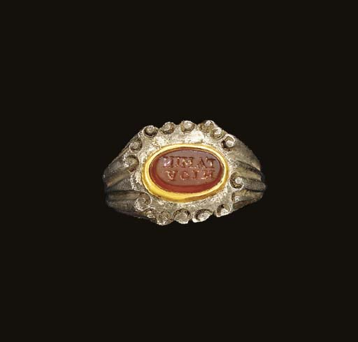 A ROMAN SILVER, GOLD AND CARNE