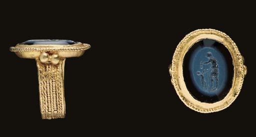 A MEROVINGIAN GOLD AND NICOLO