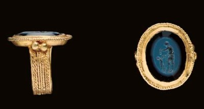 A MEROVINGIAN GOLD AND NICOLO