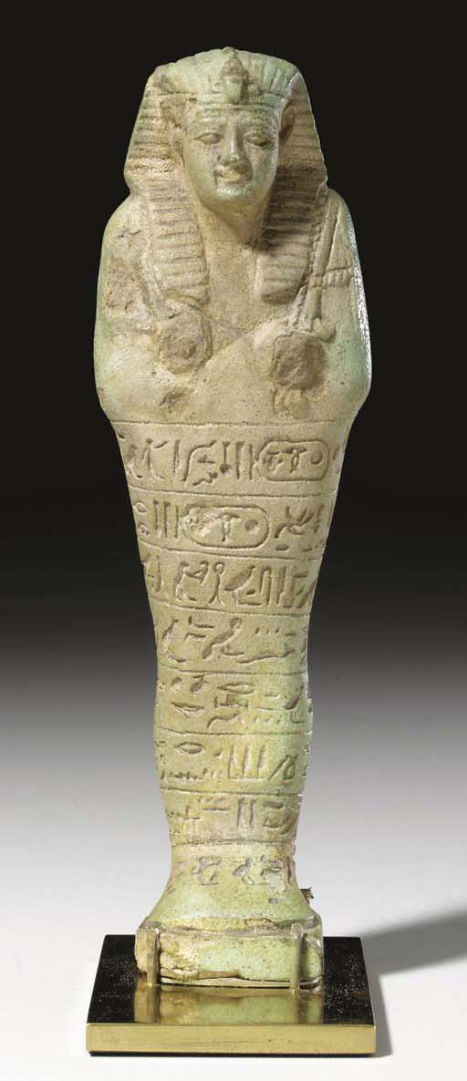 AN EGYPTIAN FAIENCE ROYAL SHAB