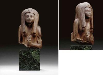 AN EGYPTIAN BROWN QUARTZITE BU