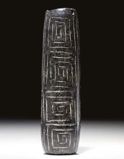 A BACTRIAN BLACK STONE VESSEL