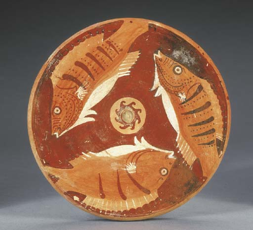A CAMPANIAN RED-FIGURED FISH-P