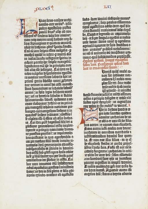 BIBLE, Latin. [Mainz: Johann G