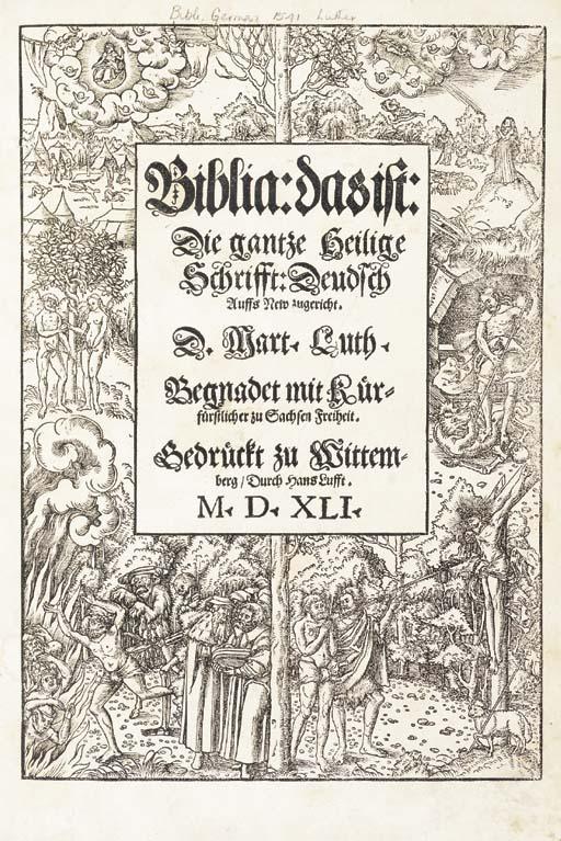BIBLE, German. Biblia: das ist