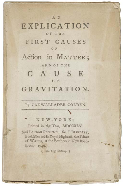 COLDEN, Cadwallader (1688-1776